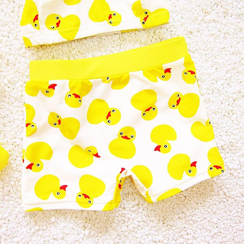 dba574828580d Boys Ducks Pattern Two-Piece Separates Cartoon Trunks Swim Cap Suits Cute 2  Piece Swimsuit Swimwear Baby Bathing Suit Plus Size