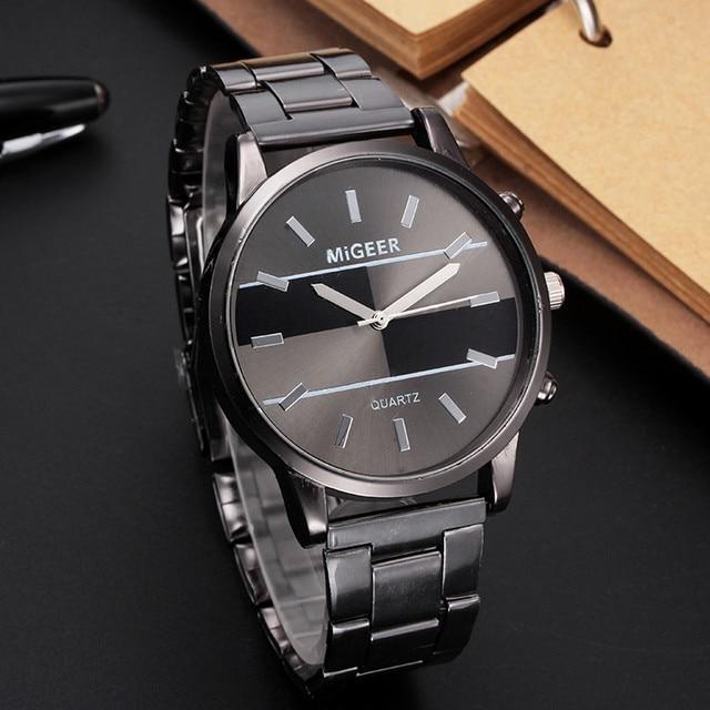 Fashion Watch Men Watch Luxury Design Stainless Steel Analog Alloy Quartz Wrist Watches erkek kol saati reloj hombre Dropship