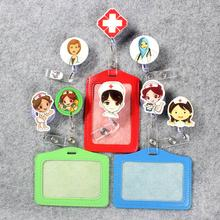 Doctor & Nurse Badge Scroll Office Reel Cute Scalable Exhibition Hospital Entrance Guard Card ID PU Holder