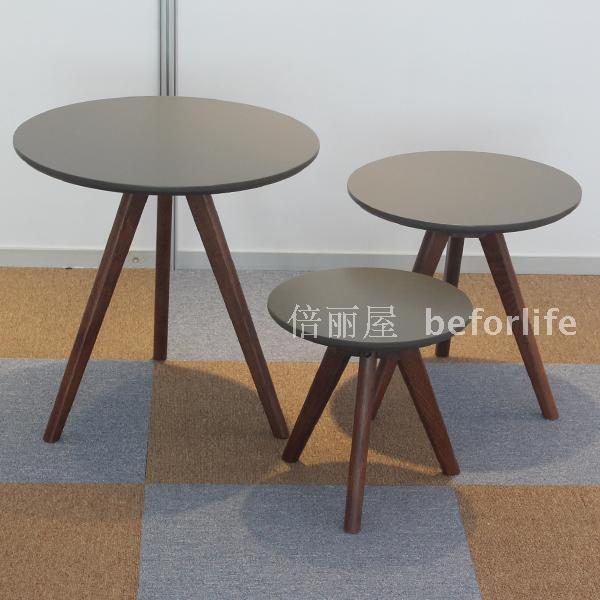 Online Shop European minimalist small round wood coffee table IKEA