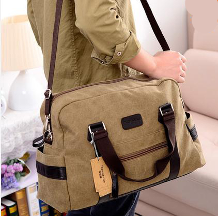 New Fashion men women handbag casual canvas travel duffle bags men ...