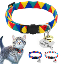 Personalized Cat Puppy Collar Quick Release Nylon Kitten Puppy Engraved Collars Safety For Small Cats Dog Free ID Tag With Bell -in Cat Collars & Leads from Home & Garden on Aliexpress.com | Alibaba Group
