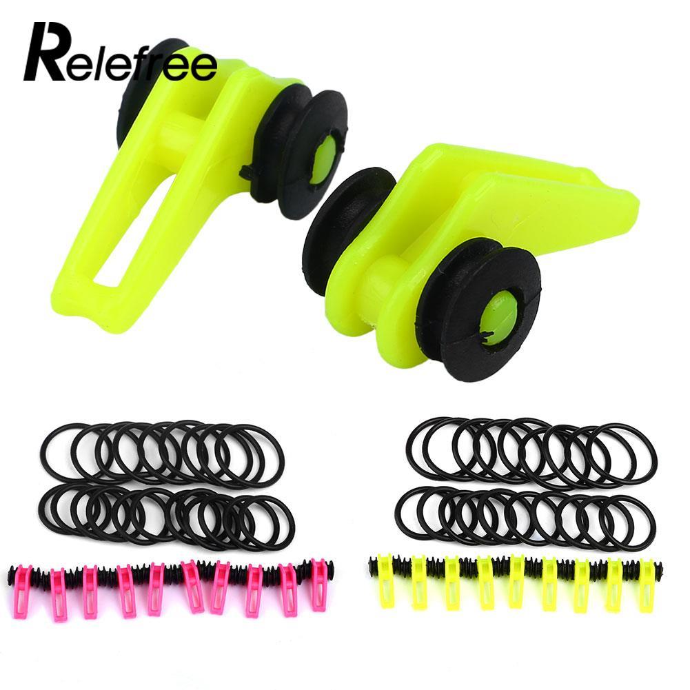 Relefree 10Pcs Outdoor Portable Fishing Rod Pole Hook Lures Bait Holder Hanger Set