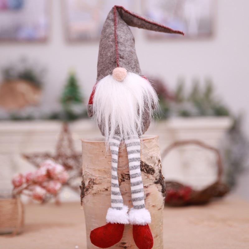 cute long legs white beard christmas elf doll decoration festival new year dinner party christmas decorations for home decor - Elf Legs Christmas Decoration