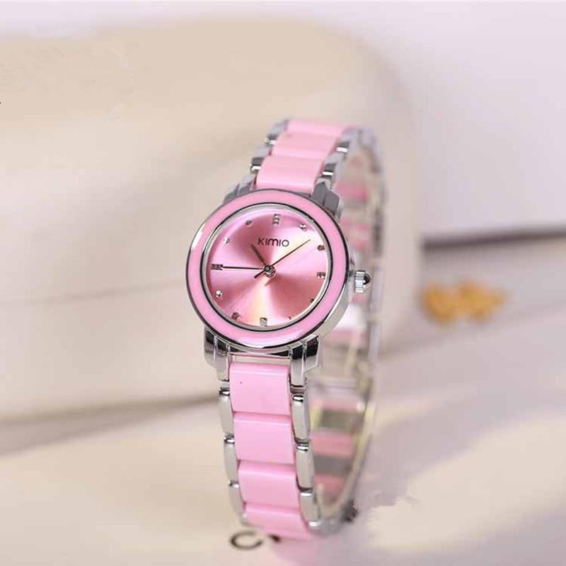 Kimio luxury Fashion Women's Watches Quartz Watch Bracelet Wristwatches Stainless Steel Bracelet Ceramic Women watches цены