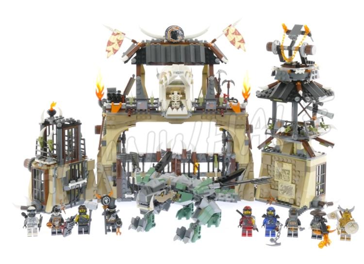 1714 piezas Ninja dragón Pit prisión cazadores oro Samurai 10940 ...