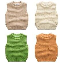 Детский жилет Новый мальчик трикотажные пуловеры 2016 чистый цвет пальто осень детская одежда осень прилив