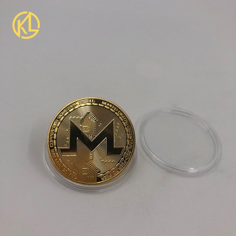 Прямая поставка позолоченная монетница Monero коллекционный подарок Casascius Бит монета Биткоин художественная коллекция физический Золотой памятные монеты - Цвет: CO-014-2