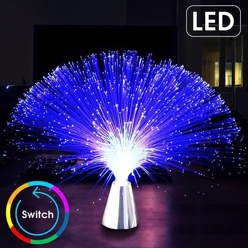 Atmosphere LED Light Fiber Optic Lantern Colorful Fiber Optic Light Starry Festival Wedding Party Christmas Lights Outdoor Light