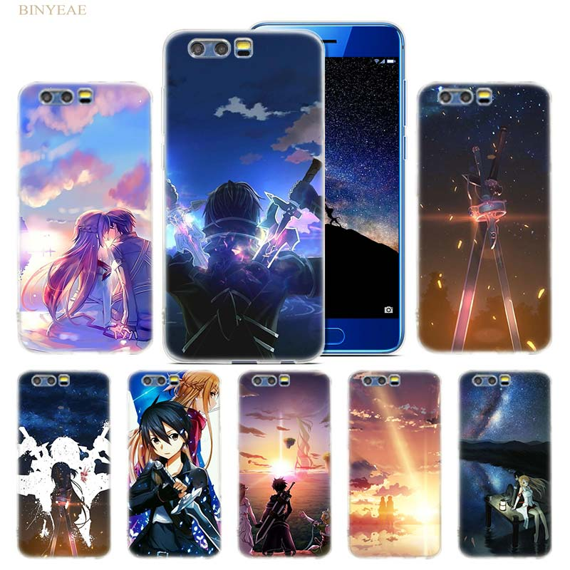Webbedepp Sword Art Online Sao Japanese Anime Phone Hard Case For Huawei Honor Play 9 8 8c 10 Lite 8x 7x 6a 7a Pro 2gb 3gb Cover Easy To Use Cellphones & Telecommunications Phone Bags & Cases