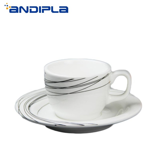 Simple China Italian Style 80cc Bone Mug Cup Pull Cafe Flower Drinkware Ceramic Coffee Cappuccino Breakfast Concentrated ZikXPu