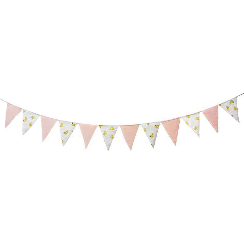 Soft Pink Banana Pennant Pennant Flag Banner Happy Birthday Baby Shower Flag Chair Nursery Garland Candy Bar Party Decoration in Banners Streamers Confetti from Home Garden