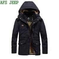 ירוק צבא מעיל החורף חם עבה גברים הגעה AFS JEEP גברים גודל גדול 8XL מאוד מעיל מעיל גברים מעיל מעיל כותנה ארוכה 160