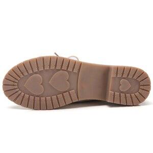 Image 4 - Женские туфли оксфорды из натуральной кожи, на квадратном каблуке 3,5 см