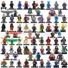 POGO Marvel Superheroes Action Figures Building Blocks 8pcs lot Spider Man Batman Catwoman Lex Luthor Toys