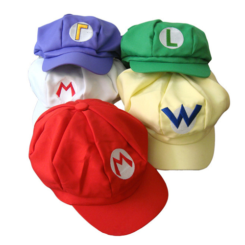 Super Mario Brothers Hats Octagonal Caps Cosplay Custome Accessory Toy Game