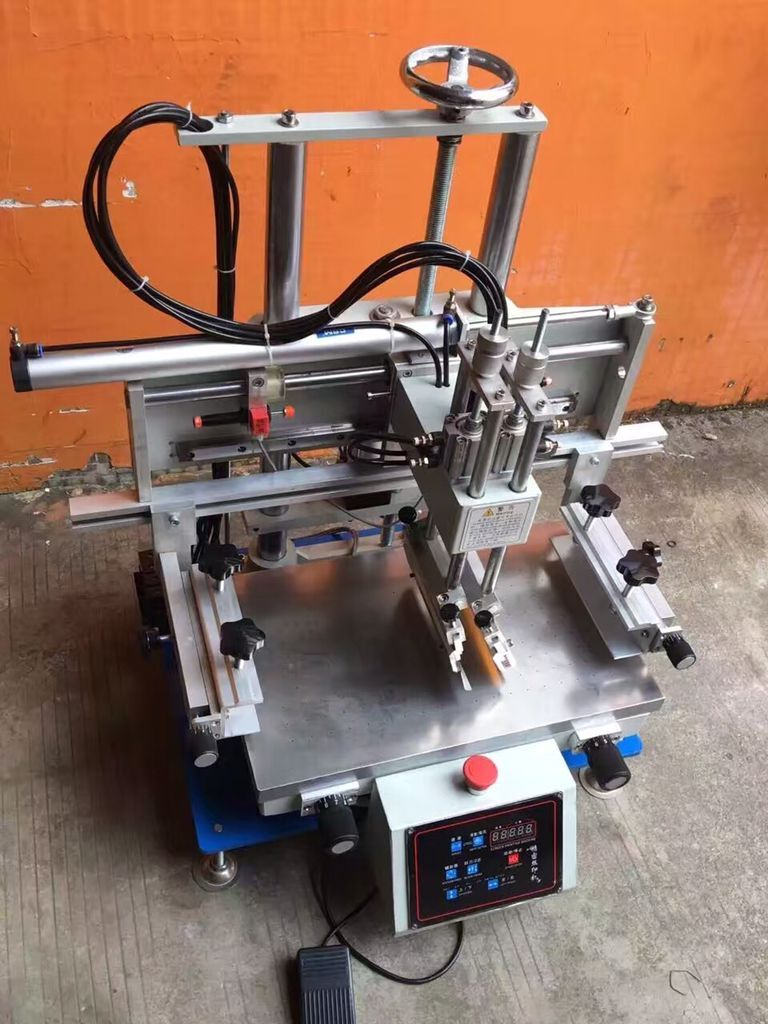 Tabletop Screen Printing Machine Video For Printing Plastic, Labels