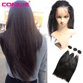 Pre Plucked 360 Lace Frontal Closure With Bundle Connie With Baby Hair Natural Hairline Brazilian Straight 360 Lace Virgin Hair