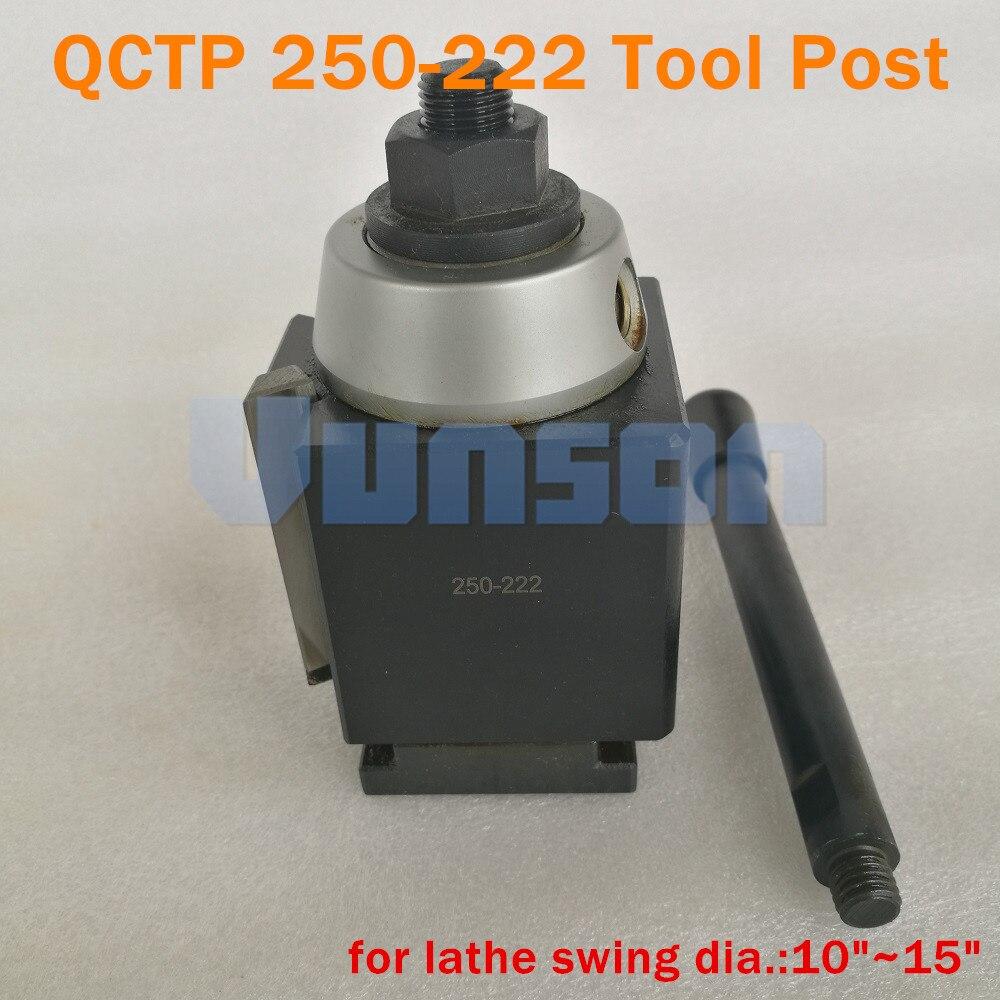 """10-15/"""" CNC Lathe BXA Wedge Quick Change Tool Post Lathing 250-222 250-201 Holder"""
