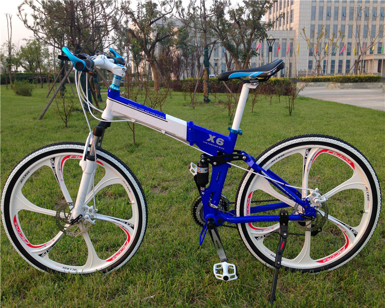 26 inch 21 speed double disc brake luxury bicicleta mountain bike font b folding b font