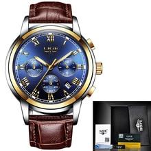 Новые часы Роскошные мужские наручные часы мужские спортивные водонепроницаемые аналоговые кварцевые мужские часы хронограф деловые часы
