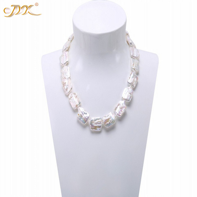 8dab29c10498a US $22.49 25% OFF|JYX Classic White&Lavender Baroque Freshwater Cultured  Pearl Necklace Party Jewelry Gift AAA 19