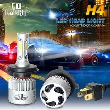 Co света h7 светодиодные лампы 72 Вт один луч h1 светодиодные лампы 8000lm 36 Вт h4 лампа фары для 4×4 toyota/honda/vw/nissan/bmw/mazda offroad