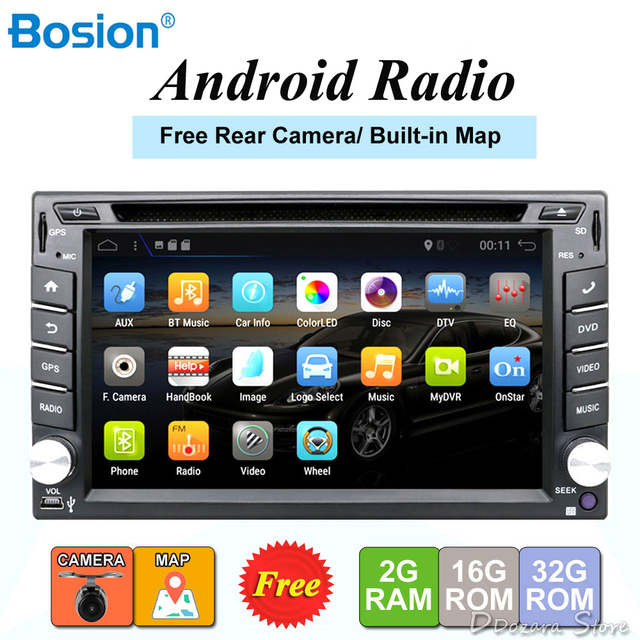 2 din android car radio tape recorder audio stereo For Universal 2din autoradio car dvd GPS Navigation Steering-Wheel Wifi Map
