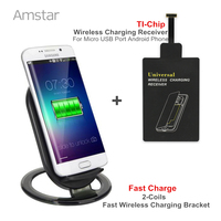 Fast Charge Scheme 15W 2 Coils Fast Charge Wireless Charger Receiver Pad Coil For Android Phone