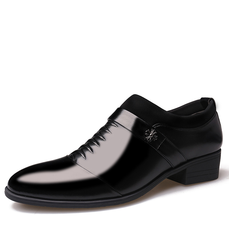 Stylish elegant wear resistant non slip men 39 s business dress leather shoes trend shoes British style pointed casual men 39 s shoes in Formal Shoes from Shoes