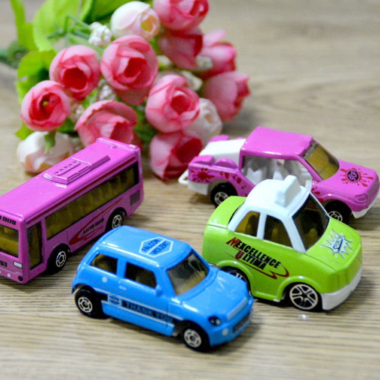 unidsset escala juguetes diecast metal de coches de juguete modelo