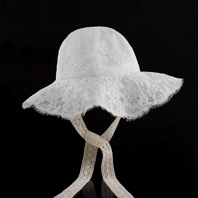 2018 Frauen Floral Print Panama Kappe Neue Sommer Im Freien Eimer Hut Sun Beach Cap Schöne Spitze Prinzessin Mädchen Krempe Sonne Hüte