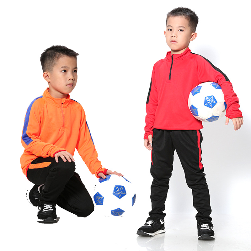 Autumn Winter Children Tracksuit Long Sleeve Kids Football Jersey Kit Outdoor Training Suits Running Sports Soccer Uniforms 2019 boys long sleeve football jersey set kids training tracksuit school football uniforms soccer black red blue orange green