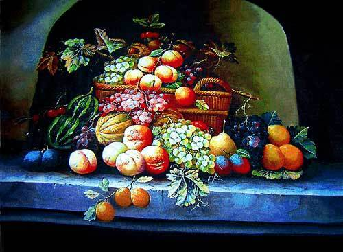 Free shipping new wall decor pictures for Dining room,All kinds of delicious Fruits, Reproduction of  archaic oil painting