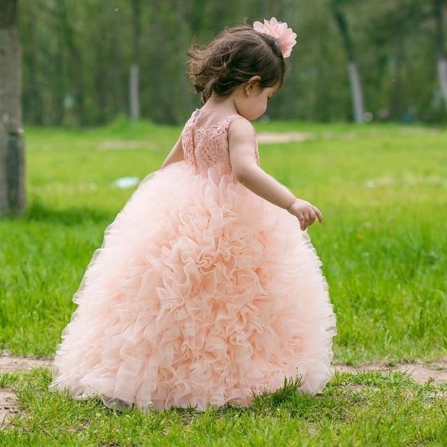 Backlackgirls Wholesale Ball Gown Girls Dresses 2018 Ruffles Little ...