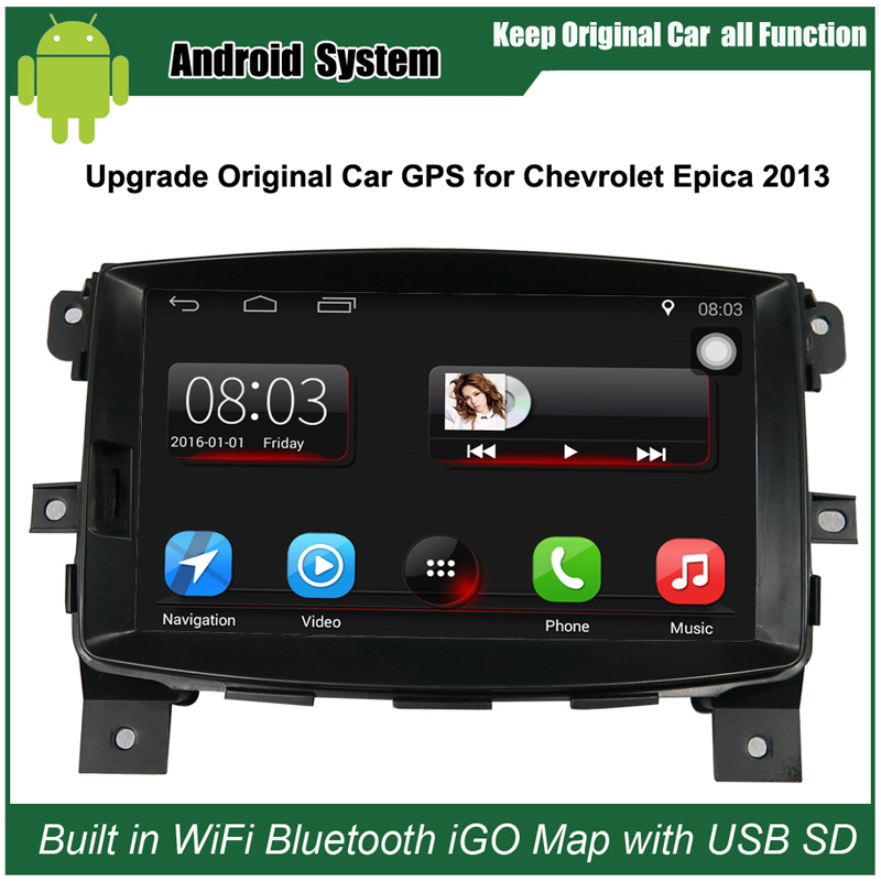 8 inch Android Car GPS Navigation for Chevrolet Epica 2013 Car Video Player WiFi Bluetooth Mirror
