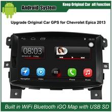 8 дюймов Android Автомобильный GPS Навигации для Chevrolet Epica 2013 Автомобилей Video Player Wi-Fi Bluetooth Зеркало-link Повышен Оригинальный радио
