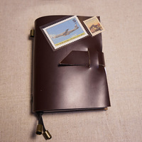 Genuine Leather Notebook For First Layer New Passport Style Have 4 Inside Book Page In Notebook