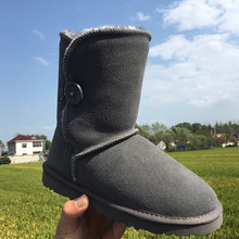 Top quality winter  boots for women mid-calf real leather boots genuine cowhide arcasual Australia brand  women snow boots