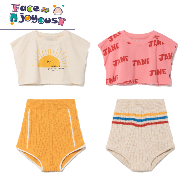 16a46a134f7 Kids Clothes Sets 2018 Summer Bobo Choses Baby Boys Cotton Cropped  Sweatshirt Tops Girls Knitting Shorts Children Clothing