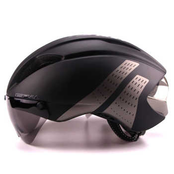3 Lens 280g Aero Goggles Bicycle Helmet Road Bike Sports Safety In-Mold Helmet Riding Mens Speed Airo Time-Trial Cycling Helmet