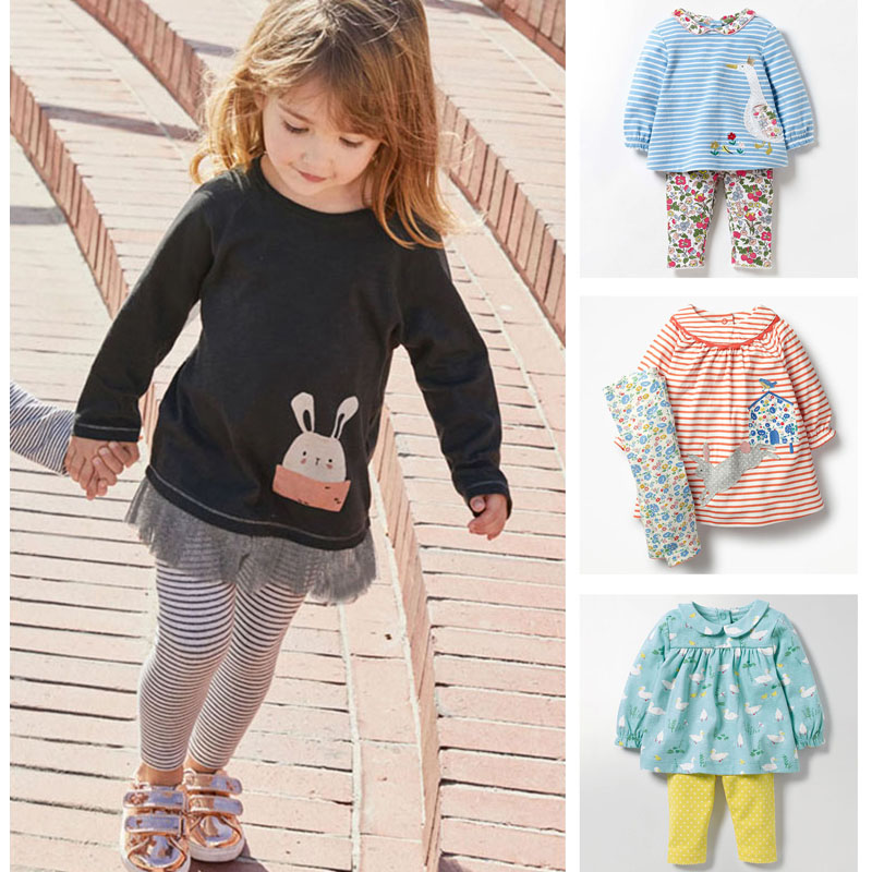 1c8f5ffb2 Ropa de bebé niña conjuntos de nuevo 2019 calidad 100% algodón peinado Bebe  niñas de manga larga Camiseta pantalones 2 pc niños conjuntos de ropa