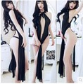 Adult fun sexy full dress transparent nightgown lace underwear cheongsam nurse uniforms the temptation to set