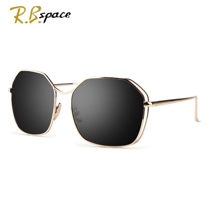 New Metal frame sunglasses fashion geometry double bridge design brand personality mirrored sunglasses UV400 new S1802