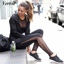 Vertvie kadınlar yoga tayt skinny mesh yüksek bel koşu spor pantolon egzersiz gym fitness pantolon tayt kadınlar ropa deportiva