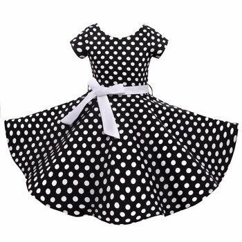 Summer Girls Dress Elegant Vintage Cotto...
