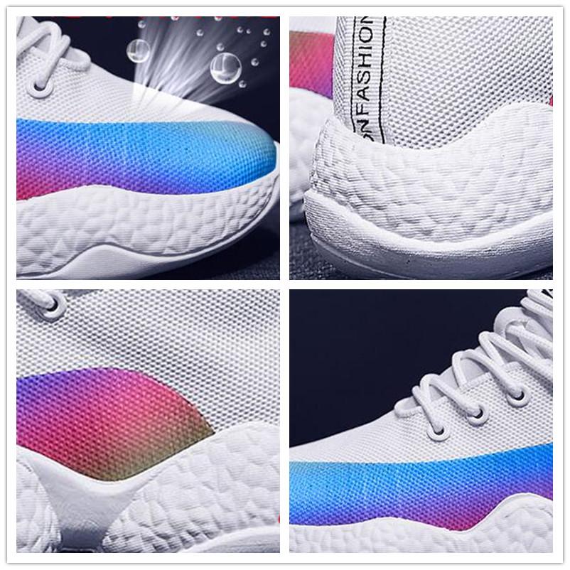 Women Sneakers Female Korean Version Color Thick Bottom White Black Ladies Casuals Footwear Women Run Shoes 25