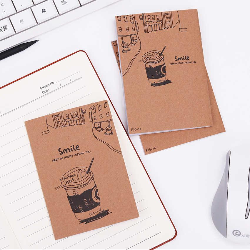 1PC Creative רטרו מכתבים קראפט נייר מחברת מיני ריק כוס אוגדן יומן פנקס קראפט כיסוי הערה ספרים ציוד משרדי