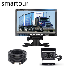 цена на Smatour Truck Bus Lorry12-24v  Car Rear View Reversing  Nightvision  Car Rear View Camera For Bus with LCD HD 7 inch monitor