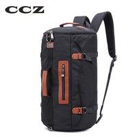 CCZ Mens Backpack Nylon Bag For Travelling Fashion Male Backpack Big Capacity Handbag Shoulders Bag For